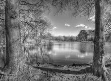 Озеро на парке pittville Стоковая Фотография