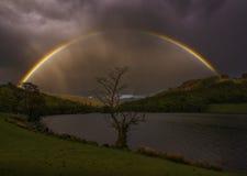 озеро над радугой Стоковые Фото