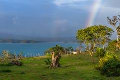 озеро над радугой Стоковое Изображение RF