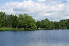 Озеро на солнечном дне Стоковые Изображения
