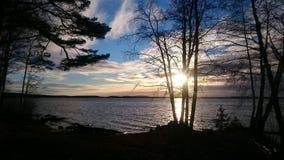 Озеро на Швеции Стоковое Изображение