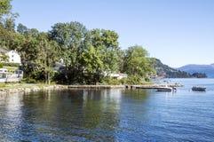 Озеро на юге  Норвегии Стоковые Изображения RF