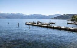 Озеро на юге  Норвегии Стоковое Изображение RF