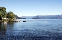 Озеро на юге  Норвегии Стоковые Фотографии RF