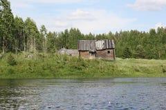 Озеро на ясный день Стоковая Фотография