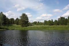 Озеро на ясный день Стоковая Фотография RF