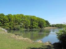 Озеро на Cosmeston, пятнает Стоковые Изображения
