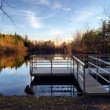 Озеро на Mont St-Bruno Стоковые Фото