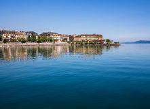Озеро Невшател, Швейцария Стоковое фото RF