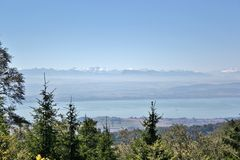 Озеро Невшател, Швейцария Стоковое Изображение