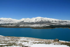 озеро новый сногсшибательный zealand Стоковые Изображения RF