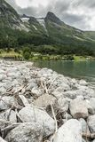 Озеро Норвегия Oppstrynsvatn Oppstryn стоковые изображения rf