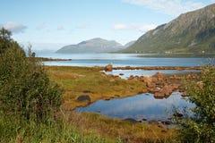 Озеро Норвеги Стоковая Фотография