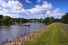 Озеро Ньюпорт в Reston Вирджинии Стоковая Фотография RF