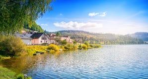 озеро около села Стоковое фото RF