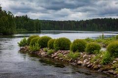 Озеро около Werla Финляндия Стоковые Изображения RF