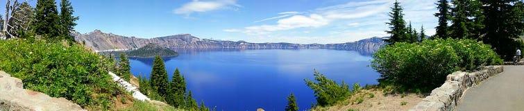 озеро Орегон кратера стоковое изображение rf
