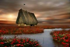Озеро осен Стоковые Изображения