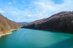 Озеро от Paltinis Стоковые Изображения