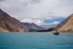 Озеро Пакистан Attabad стоковая фотография rf