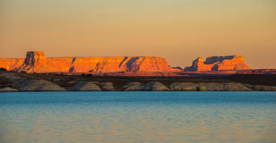 Озеро Пауэлл залив Wahweap Стоковая Фотография RF