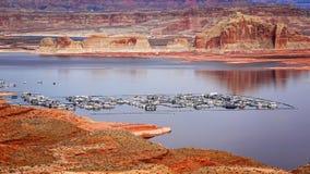Озеро Пауэлл от Wahweap обозревает Стоковое Изображение RF