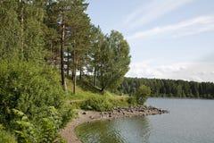 озеро пляжа Стоковые Фото