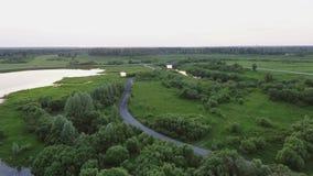 Озеро поворачивая в болото акции видеоматериалы