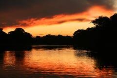 озеро пожара Стоковые Фотографии RF