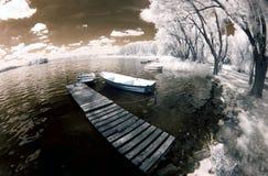 озеро Польша fisheye Стоковая Фотография