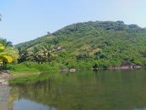 Озеро помадки Arambol стоковое изображение