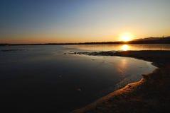 озеро после полудня Стоковое Фото