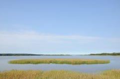 Озеро под ясным небом Стоковые Фотографии RF