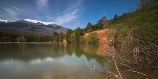 Озеро природного парка Moncayo естественное стоковая фотография