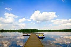 озеро прокалывает лето Стоковое Изображение