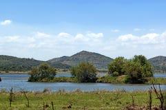 Озеро (пруд) в национальном парке Pilanesberg стоковая фотография rf