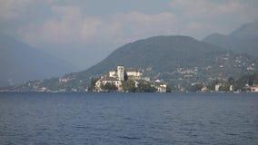 Озеро Пьемонт Италия Orta сток-видео