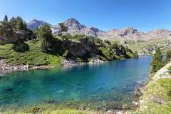 Озеро Рана в долине Tena в Пиренеи, Уэске, Испании стоковое фото rf