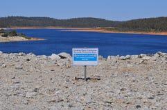 Озеро резервуара запруды воды отсутствие знака входа Стоковое Изображение RF