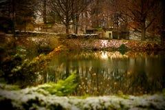 Озеро рождеств сказки Стоковая Фотография