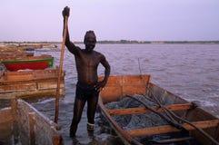 озеро розовый Сенегал стоковые фотографии rf