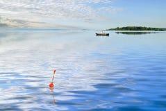 озеро рыболовства Стоковые Фотографии RF
