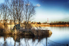 озеро рыболовства Стоковые Фото