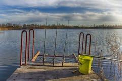 озеро рыболовства Стоковое Фото