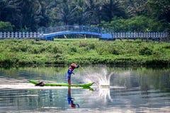 Озеро рыболов стоковое изображение rf