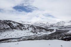 Озеро сестер горы Haizi в Тибете Стоковое фото RF