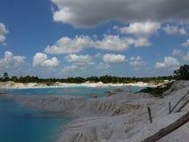 Озеро сини каолина Стоковое фото RF