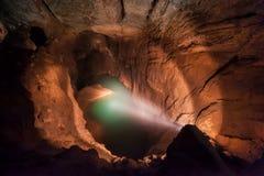 Озеро син Undeground Пещера нового Athos Стоковые Изображения