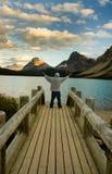 озеро смычка alberta стоковая фотография