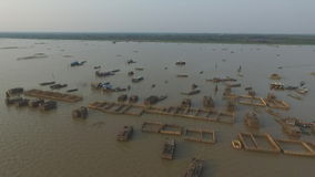 Озеро сок Tonle (Камбоджа) акции видеоматериалы